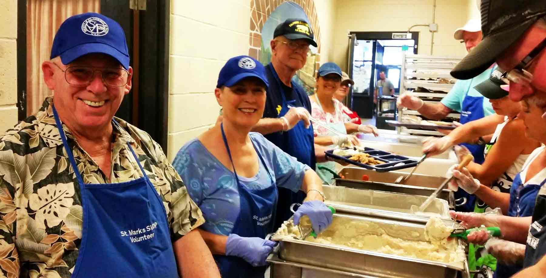 Meating the Need volunteers
